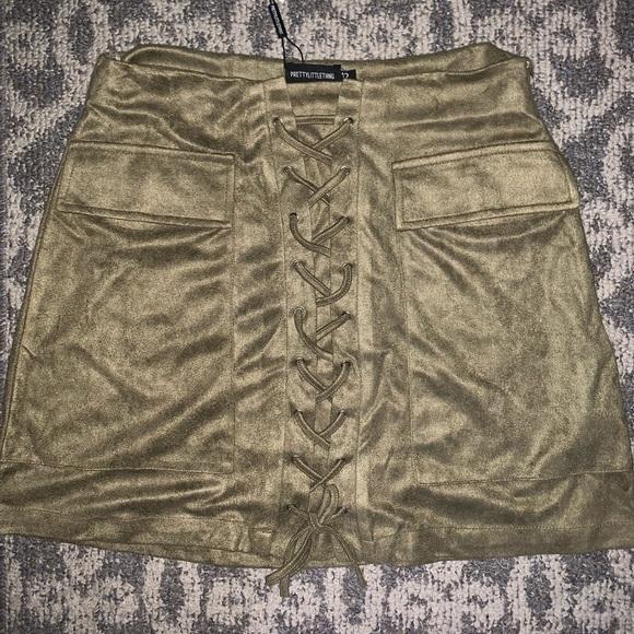 PrettyLittleThing Dresses & Skirts - Lace up mini skirt